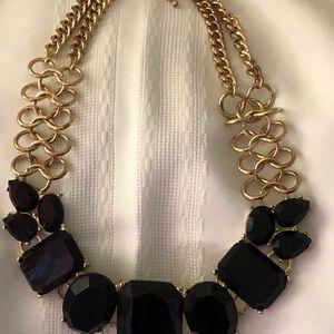 Jewelry - Large Black Bead/ Gold Chain Chocker Bracelet